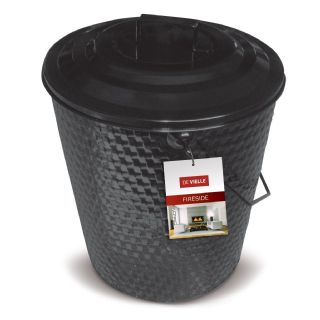 Basket weave coal tub with lid DEV961